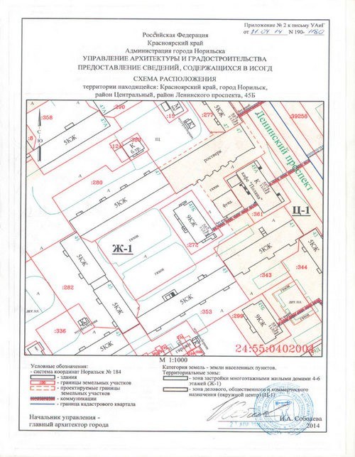 схема расположения территории
