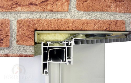 Трёхслойная изоляция монтажного шва окна