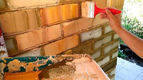 Как красить кирпичную стену: чем покрасить кирпич