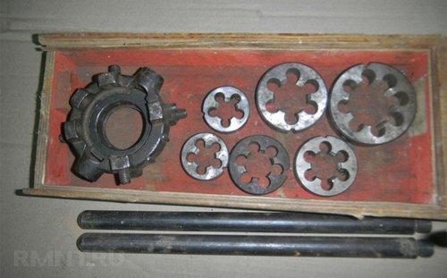 Набор трубных плашек с плашкодержателем