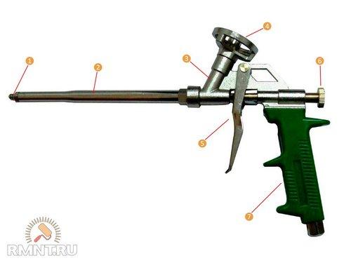 Как пользоваться пистолетом для монтажной пены