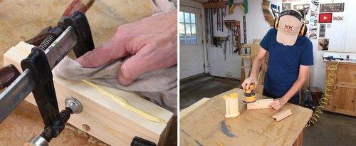 Обработка клеевых швов