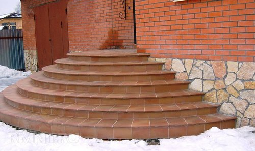 Как рассчитать радиусные ступени бетонного крыльца