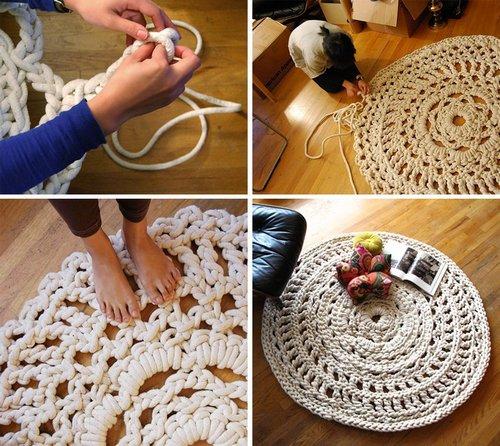 Плетение половика из верёвки