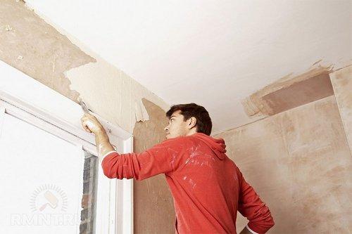Как снять краску со стен ипотолка