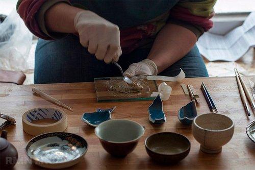 Кинцуги — японское искусство восстановления разбитой посуды