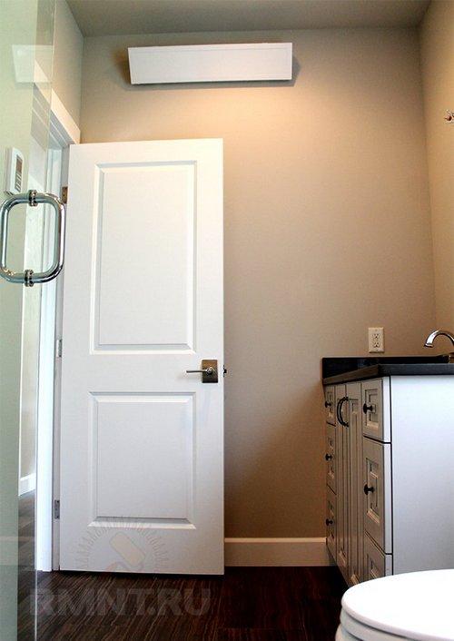 Инфракрасный обогреватель в ванной комнате