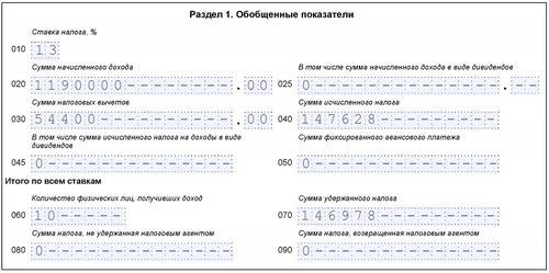 Заполнения 6-НДФЛ, с подарком свыше 4000 руб