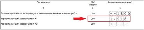 Коэффициент-дефлятор для ЕНВД 2020