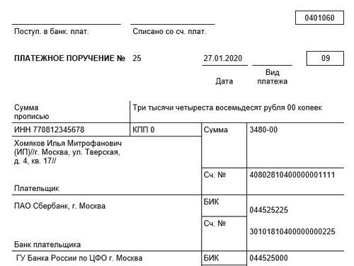 КБК на патент для ИП в 2020 году