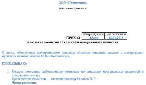 Порядок списания материалов в бухгалтерском учете (нюансы)