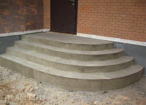Как правильно рассчитать радиусные ступени бетонного крыльца