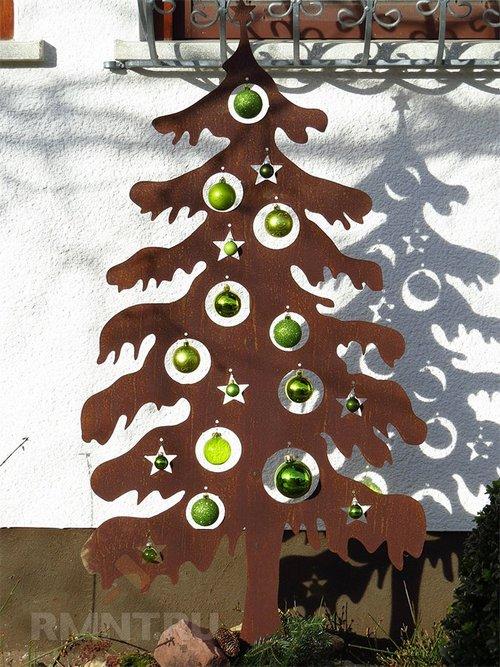 Настенные новогодние ёлкиидеи оформления