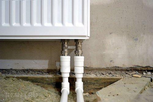 Нижнее подключение радиаторов отопления: плюсы иминусы схемы