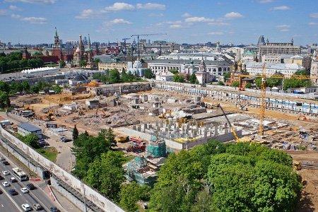 В столичном парке «Зарядье» будет двухуровневая набережная и археологическая зона