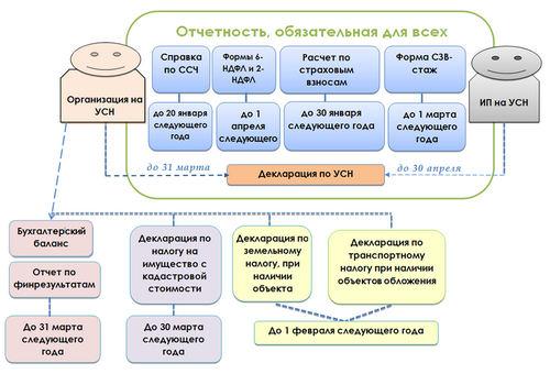Годовая отчетность, обязательная для работающих на УСН ООО и ИП