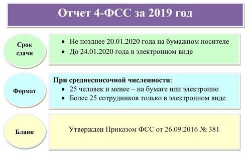 Бланк и образец 4-ФСС за 2019 год