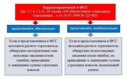 Корректировочный отчет 4-ФСС