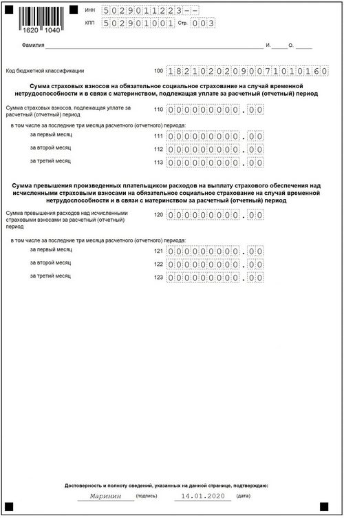 Раздел 1-1 нулевой РСВ