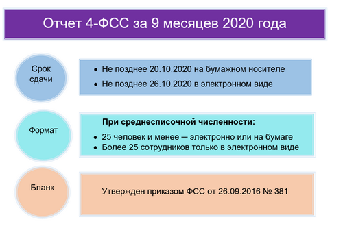 Образец 4-ФСС за 9 месяцев 2020 года