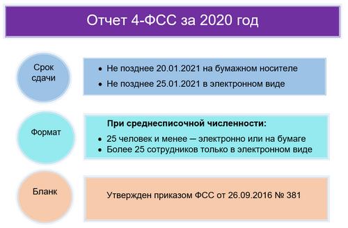 Бланк 4-ФСС за 2020 год
